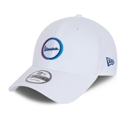 Gorra Vespa Logo Brushed Cotton 9Forty, Blanco