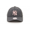 New Era Gorra Ny Yankees League Essential Gris Rosa Mujer